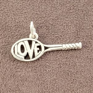 Retired James Avery Love Tennis Racket Charm